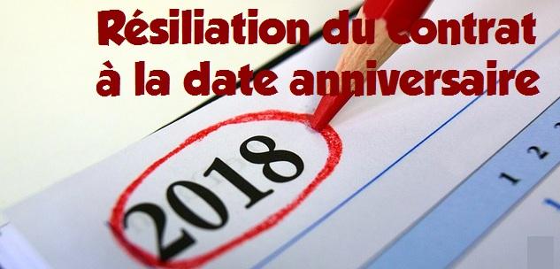 date resiliation