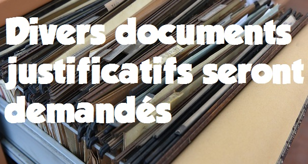 documents justificatifs