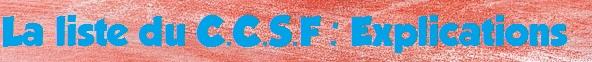 liste ccsf