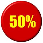 pourcentage 50