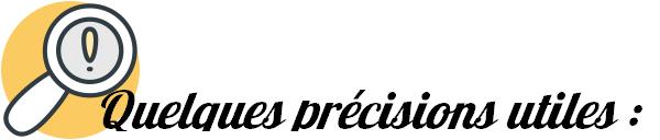 precisions utiles